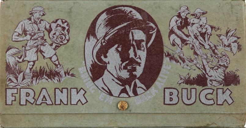 Frank Buck var en kändis i sin tid, som detta pennskrin visar.