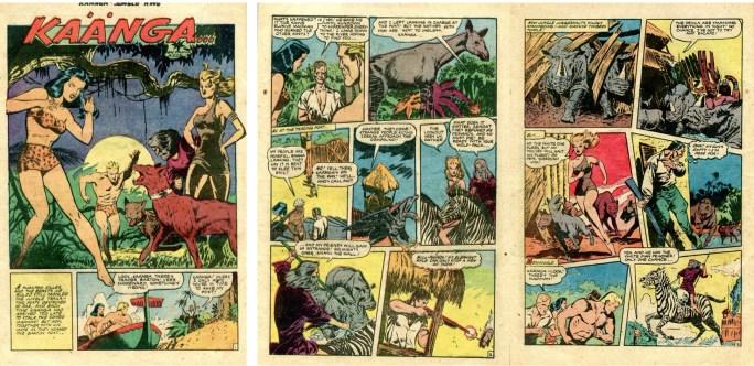 Inledningen till en Kaänga-serie av John Celardo, ur Kaänga Comics #10