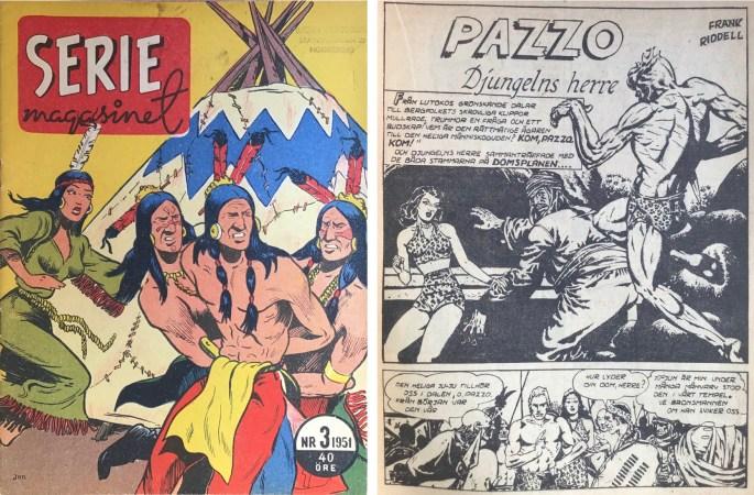 Kaänga förekom i Seriemagasinet under titeln Pazzo.