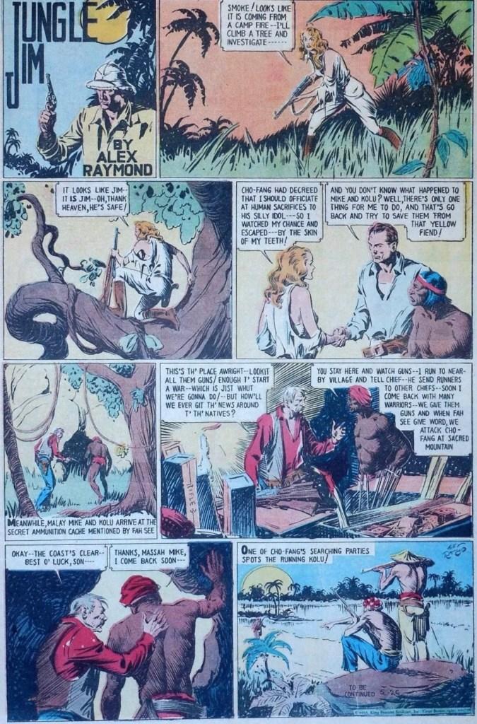 Jungle Jim episod-guide: Söndagssidan från 26 maj 1935, som stående helsida tabloid. ©KFS