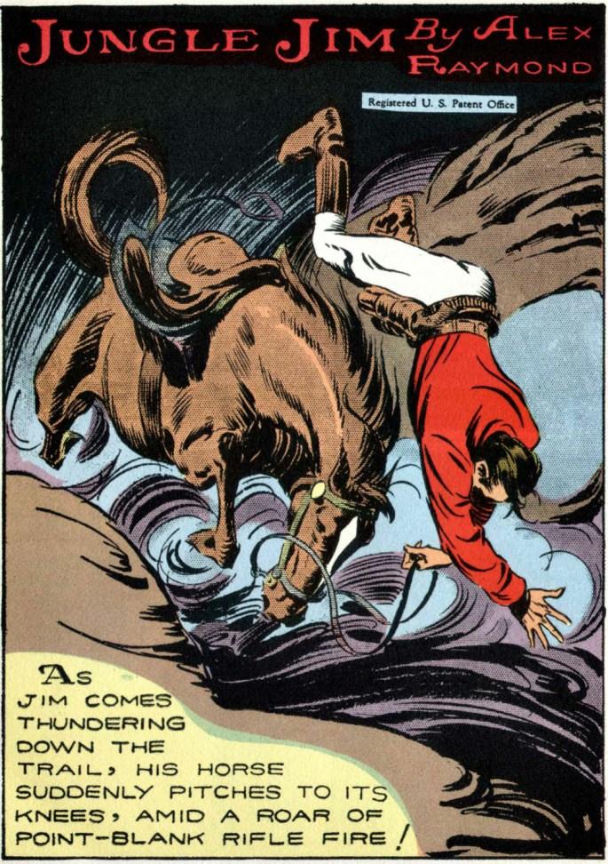 Jungle Jim störtar av hästen. ©KFS