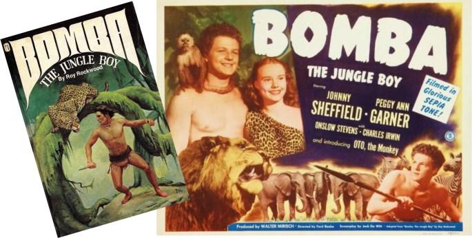 Bomba var först en romanfigur, och filmer baserad på romanerna.