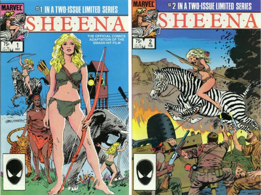 Sheena #1 och #2. ©Marvel