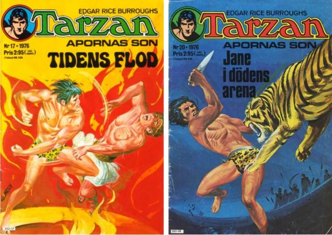 Tarzan nr 17 och 20 från 1976