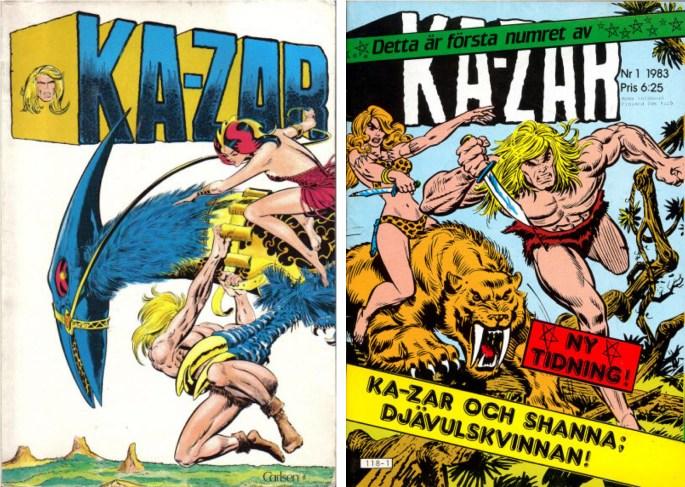 Ka-Zar har även publicerats på svenska. ©Carlsen/Atlantic