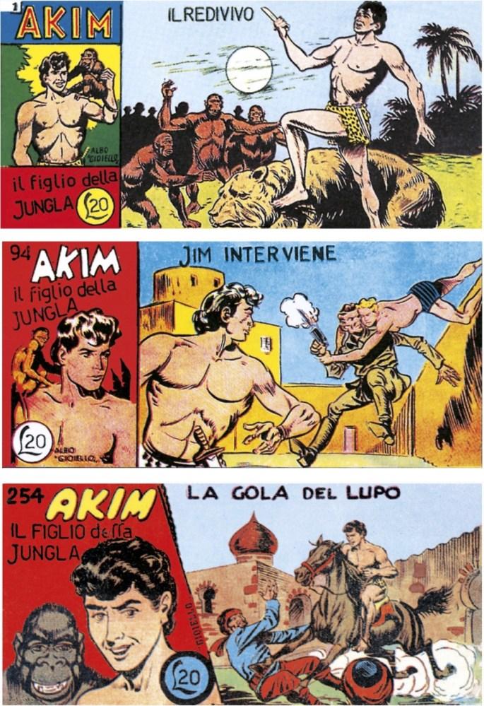 Akim nr 1, 1952, nr 94 (1954) och nr 254 (1956). ©Tomasina