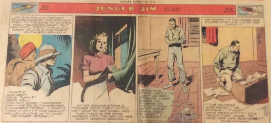Samma stripp från tidningstecknare visar de ursprungliga färgerna