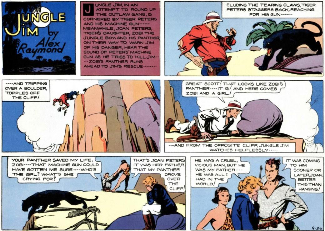 Jungle Jim episod-guide: Det dramatiska slutet 30 september 1934, på episoden om hotet mot Wilsons guldgruva, tredje episoden i Jungle Jim episod-guide