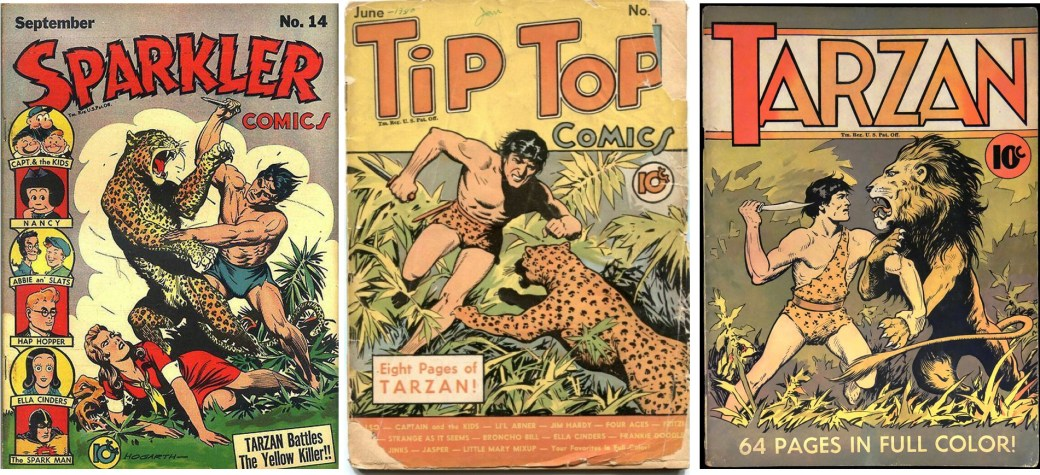 Tarzan förekom som serie i serietidningar 1940.