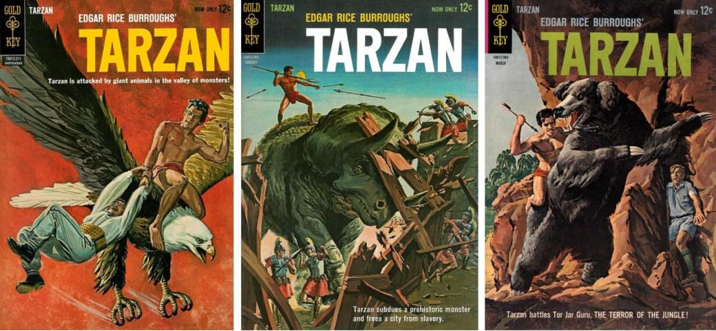 Tarzan #132-134 från Gold Key.