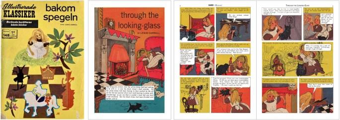 Omslag till Illustrerade klassiker nr 148, och tre inledande sidor ur brittiska förlagan. ©IK/T&P