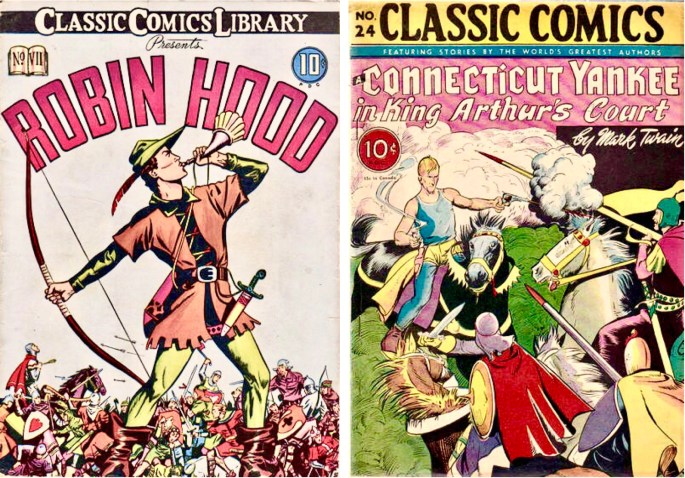 Classic Comics #7 och #24. ©Gilberton