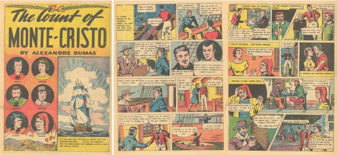 Inledande sidor i Classic Comics #3.