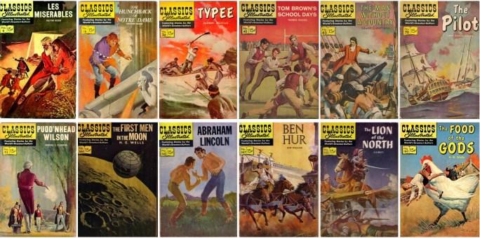 McCann skapade många omslag för Classics Illustrated och andra tidningar för förlaget. ©Gilberton