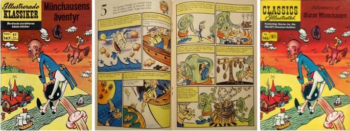 Omslag och mittuppslag till Illustrerade klassiker nr 147, och omslag till brittiska förlagan CI nr 146. ©T&P
