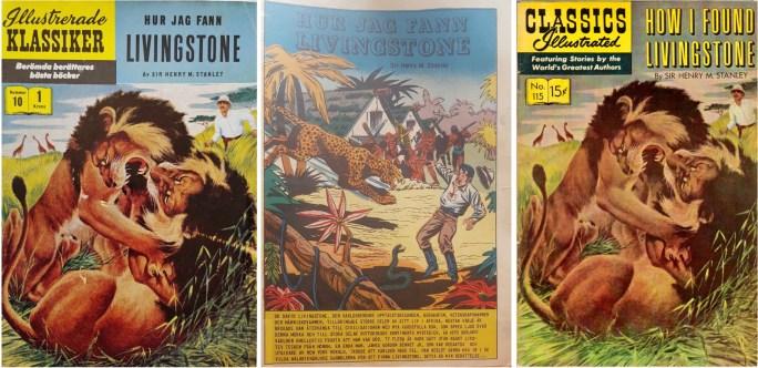 Omslag och första sida av IK nr 10, och omslag till CI #115 från 1954 (t.h.). ©IK/Gilberton