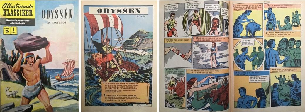 Illustrerade klassiker 21-30: Omslag, förstasida och mittuppslag ur IK nr 25. ©IK/Gilberton