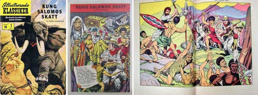 Illustrerade klassiker 21-30: Omslag, förstasida och mittuppslag ur IK nr 26. ©IK/Gilberton