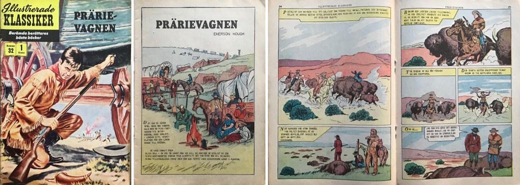 Omslag, förstasida och ett uppslag ur IK nr 32. ©IK/Gilberton
