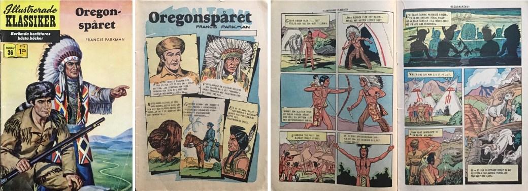 Illustrerade klassiker 31-40: Omslag, förstasida och ett uppslag ur IK nr 36. ©IK/Gilberton