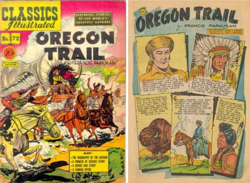 Omslag och förstasida ur Classics Illustrated #72. ©Gilberton