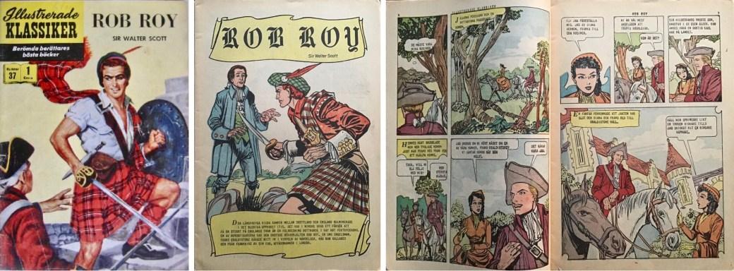 Illustrerade klassiker 31-40: Omslag, förstasida och ett uppslag ur IK nr 37. ©IK/Gilberton