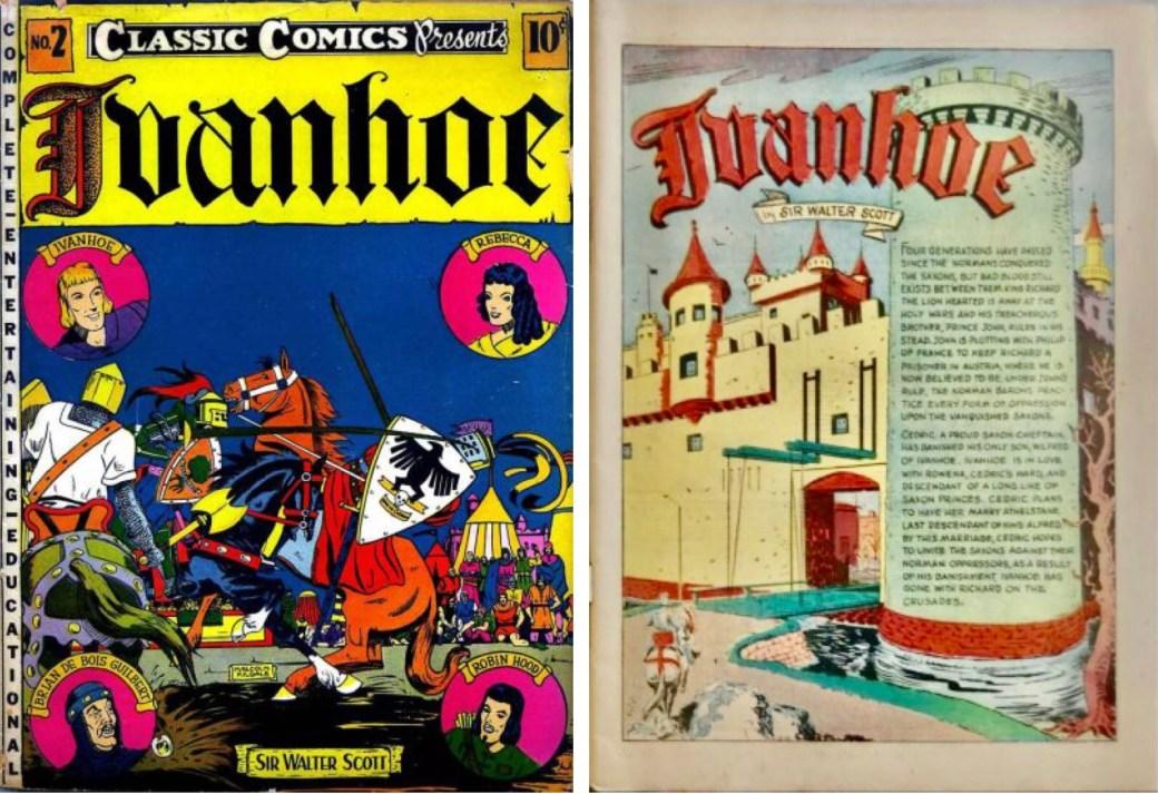 Omslag och förstasida ur Classic Comics #2. ©Elliott
