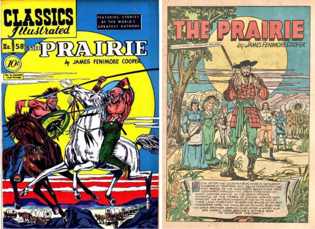Omslag och förstasida ur Classics Illustrated #58. ©Gilberton
