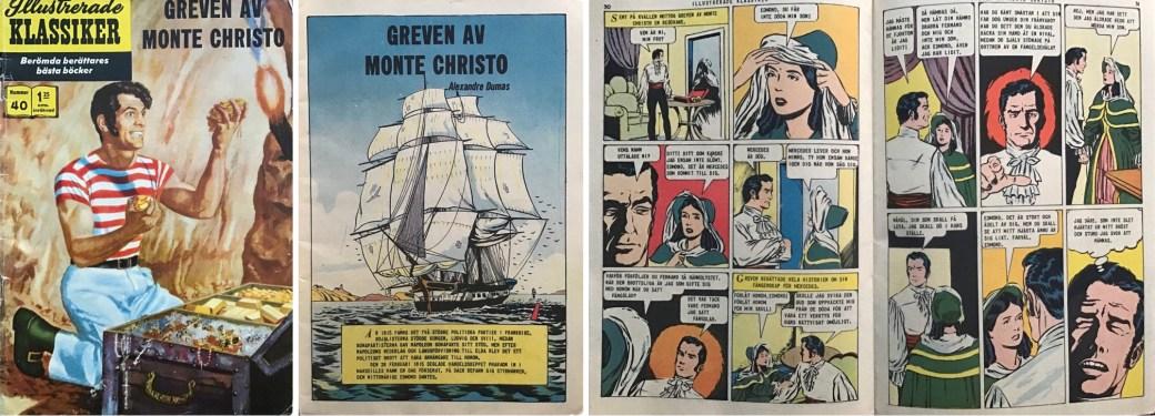Illustrerade klassiker 31-40: Omslag, förstasida och ett uppslag ur IK nr 40. ©IK/Gilberton
