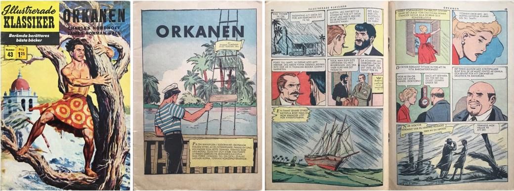 Illustrerade klassiker 41-50: Omslag, förstasida och mittuppslag ur IK nr 43. ©IK/Gilberton