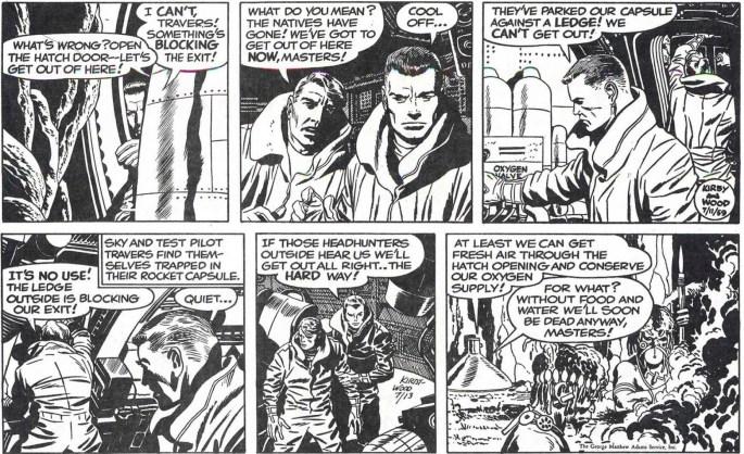 Motsvarande strippar i original, från 11 och 13 juli 1959.
