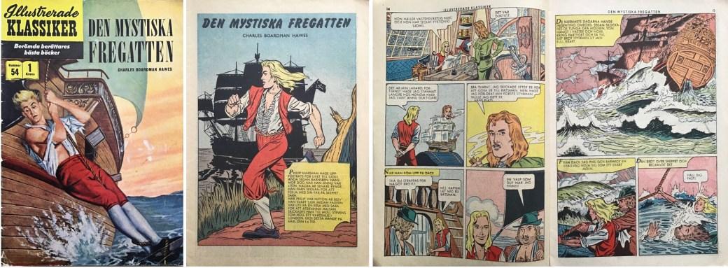 Illustrerade klassiker 51-60: Omslag, förstasida och ett uppslag ur IK nr 54. ©IK/Gilberton