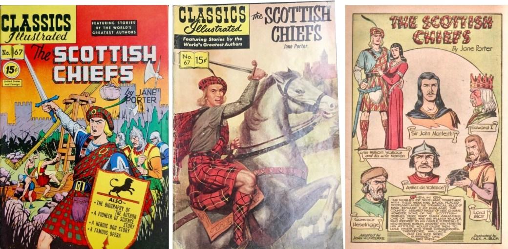 Omslag till CI #67 från 1950 och 1957, och förstasida. ©Gilberton