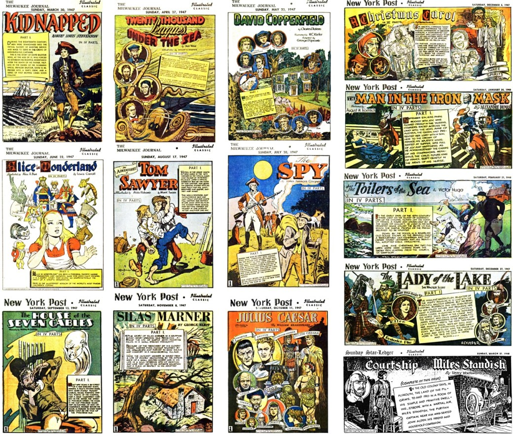 Totalt utkom fjorton olika berättelser som söndagsbilagor i dagspress. ©Gilberton