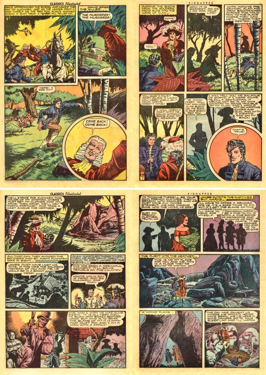 Sidan 32-35 ur CI #46. Sidorna 42, 44-45 från IC ovan saknas. ©Gilberton