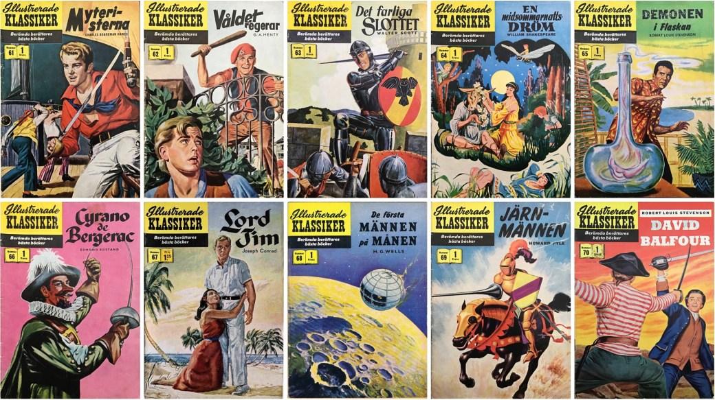 Omslag till Illustrerade klassiker nr 61-70 (1958). ©IK/Gilberton