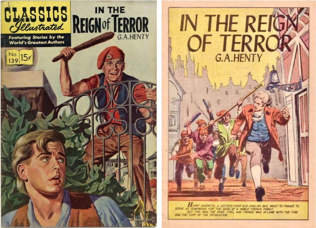 Omslag och förstasida ur Classics Illustrated #139.