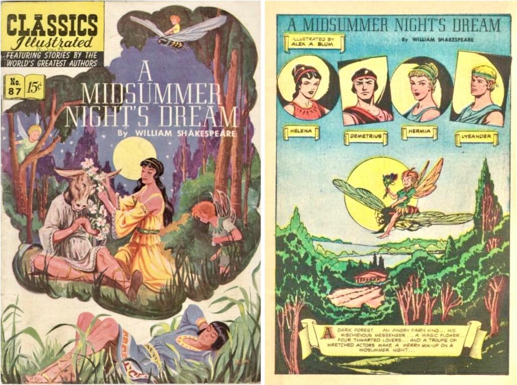 Omslag och förstasida ur Classics Illustrated #87. ©Gilberton