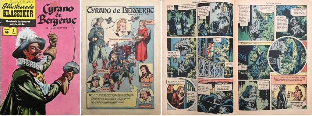 Omslag, förstasida och ett uppslag ur Illustrerade klassiker nr 66. ©IK/Gilberton