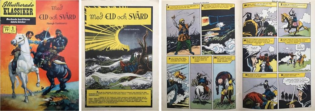 Illustrerade klassiker 71-80: Omslag, förstasida och mittuppslag ur IK nr 77. ©IK/Gilberton