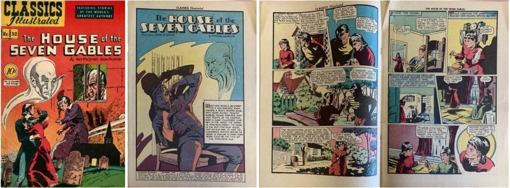 Omslag, förstasida och mittuppslag till CI #52 från 1948. ©Gilberton