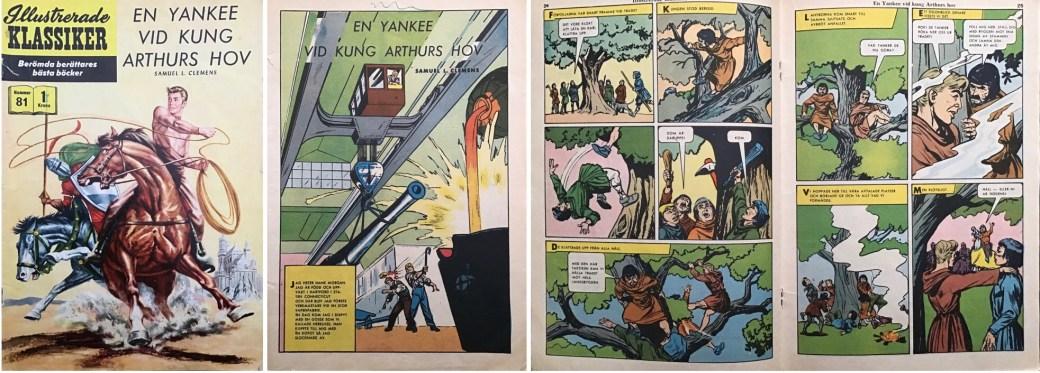 Omslag, förstasida och mittuppslag ur IK nr 81. ©IK/Gilberton
