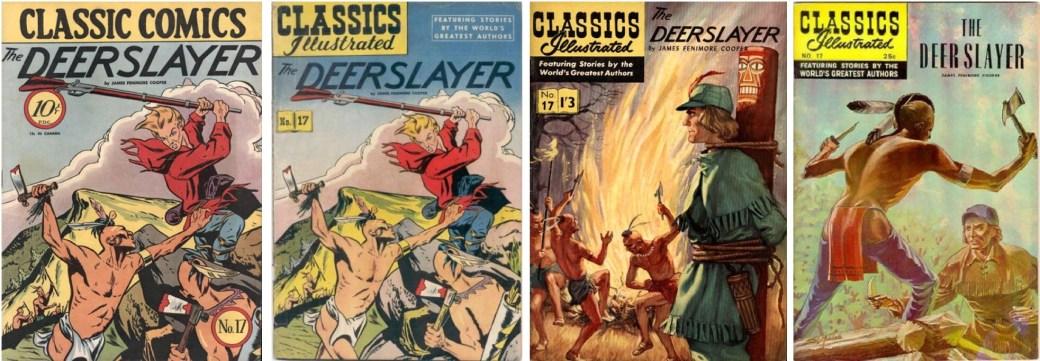 Omslag från 1944 (CC #17), 1949 (CI #17), 1952 (brittiska CI #17) och 1968. ©Gilberton/T&P