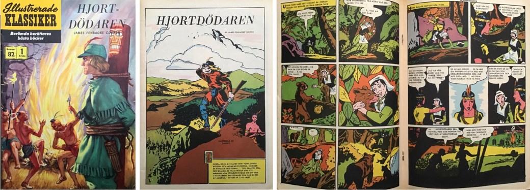 Illustrerade klassiker 81-90: Omslag, förstasida och mittuppslag ur IK nr 82. ©IK/Gilberton/T&P