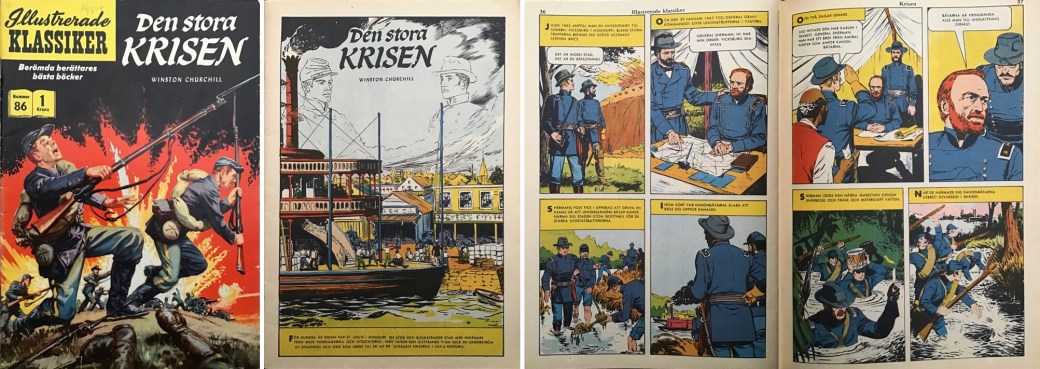 Omslag, förstasida och ett uppslag ur IK nr 86. ©IK/Gilberton