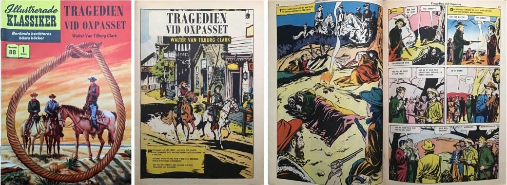 Illustrerade klassiker 81-90: Omslag, förstasida och mittuppslag ur IK nr 88. ©IK/Gilberton