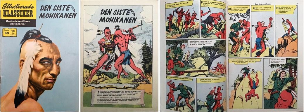 Illustrerade klassiker 81-90: Omslag, förstasida och ett uppslag ur IK nr 89. ©IK/Gilberton