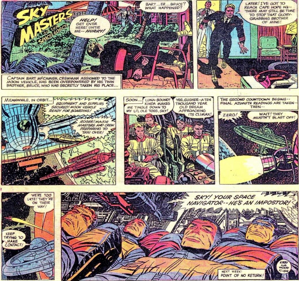 En Sky Masters-söndagssida från 12 april 1959. ©Adams