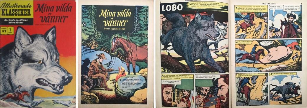 Illustrerade klassiker 91-100: Omslag, förstasida och ett uppslag ur IK nr 97. ©IK/Gilberton