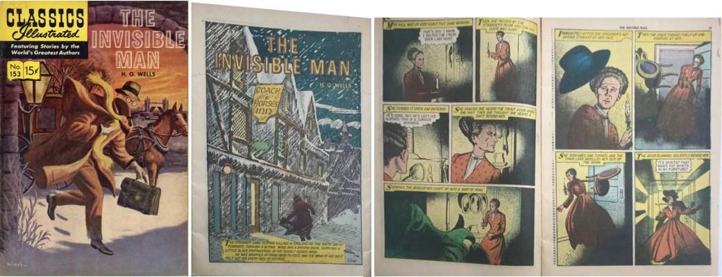 Omslag, förstasida och ett uppslag ur Classic Comics #153. ©Gilberton